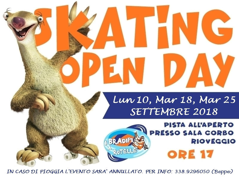 Skating Open Day a Rioveggio